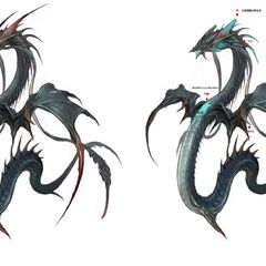 <i>A Realm Reborn</i> concept art, featuring an abandoned idea of Leviathan's barbs being removable via attacks.