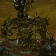 Sephirot's statue in 3.15.