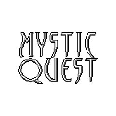 In-game logo of <i>Mystic Quest</i>.