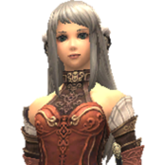 Modelo de Arciela durante o jogo.