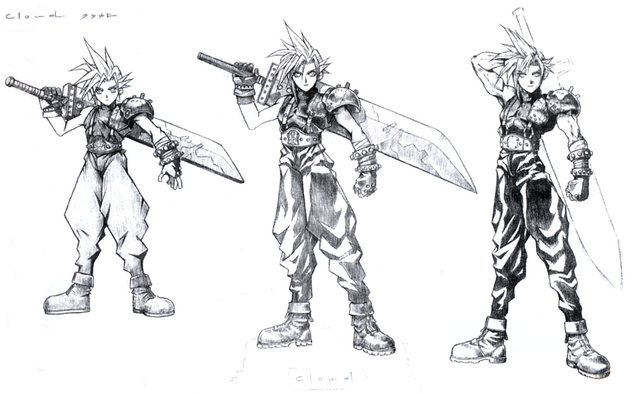 File:Cloud Strife Sketch.png