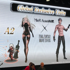 <i>NieR: Automata</i> collaboration featuring A2 and Eve announced at the <i>Final Fantasy Brave Exvius</i> FAN FESTA in Paris.