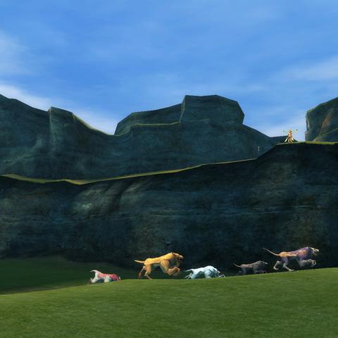 Lupine Dash in a cutscene.