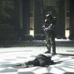 Glauca kills Regis.