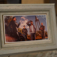 Old photo of Cor with Regis's retinue.