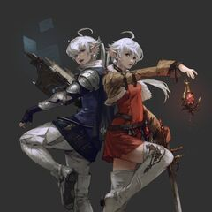 Alphinaud and Alisaie Leveilleur in <i>Shadowbringers</i>.
