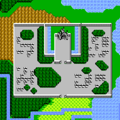 Saronia as seen on the world map (NES).