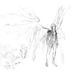 Esboço da forma de Selh'teus depois de ser revivido pela Phoenix.