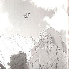 Kain e Ceodore na novelização.