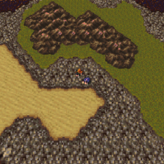 Tzen on the World of Ruin map (SNES).
