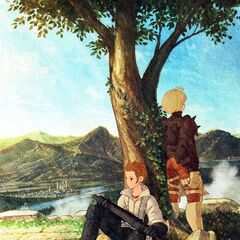 Artwork of Balthier and Ramza from <i>Final Fantasy Tactics: The War of the Lions</i>.