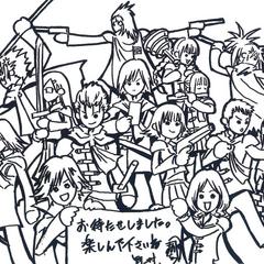 Иллюстрация Тецуи Номуры в честь годовщины Type-0.