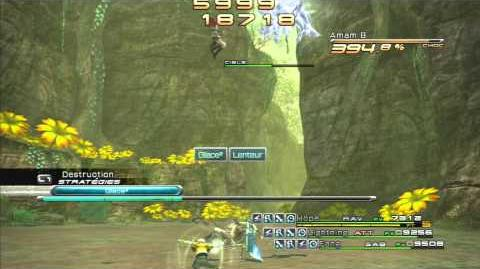 Final Fantasy XIII Combat contre Amam