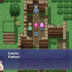 Lenna calls out to her father.