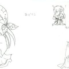 Alternate concept art of Faris as a Dancer.