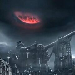 Midgar during Meteorfall in <i>Dirge of Cerberus</i>.