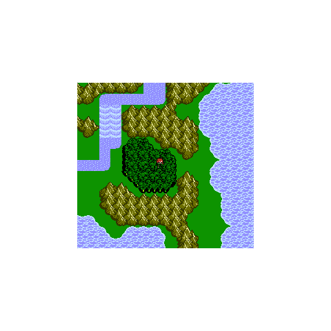 Living Forest on the World Map (NES).
