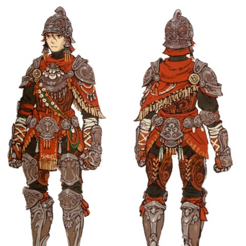 Concept art of a soldier of Aht Urhgan.