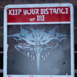 Предупреждающий знак.