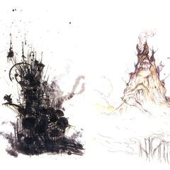 Kefka's Tower sketches.