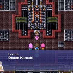 Lenna calls out to Queen Karnak.