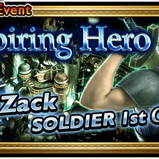 Banner do evento <i>Aspiring Hero</i>.