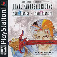 Capa de <i>Final Fantasy Origins</i> norte-americana do Sony PlayStation; 2003.