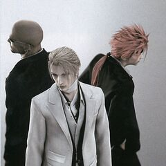 Render de Rufus com Reno e Rude de <i>Advent Children</i>.