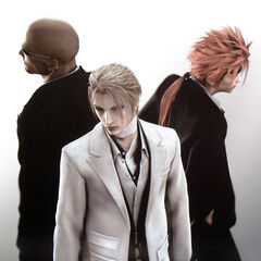 CG render of Rude and Reno with Rufus from <i>Advent Children</i>.