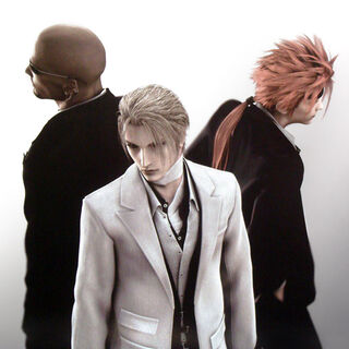 CG Render of Rufus with Reno and Rude from <i>Advent Children</i>.