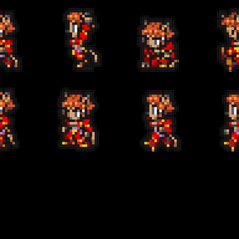 Set of Naja's sprites.