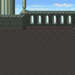 Fundo de batalha (Fora do Castelo Dimensional (SNES).