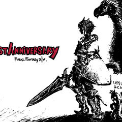 Countdown artwork 10 day left featuring a male Miqo'te Paladin, a chocobo, and a cactuar.
