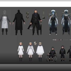 Различные персонажи из <a href=