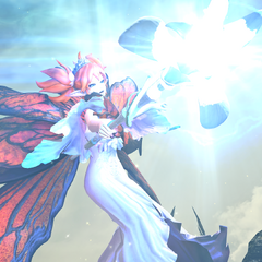 Titania Feo Ul battling sin eaters at Mt. Gulg.