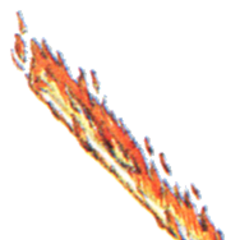 Concept art Flame Rod from <i>Final Fantasy III</i>.
