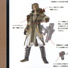 Sazh Katzroy's early concept art.