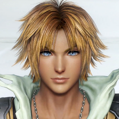 Tidus from the arcade tutorial.
