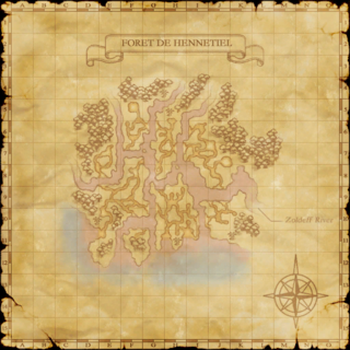 The map of Foret de Hennetiel.