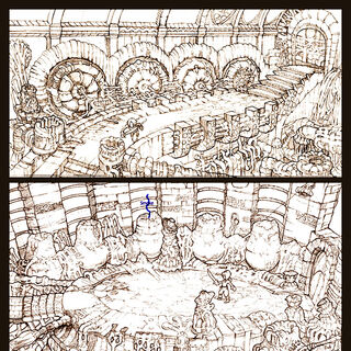 Concept art of an interior area of the Pandemonium.