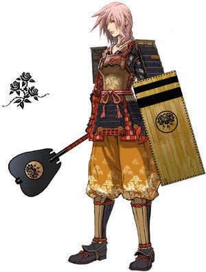 Samurai Garb Fushikaden - Arte Oficial por Nomura
