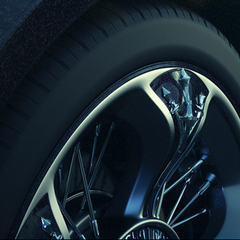 The Regalia's hubcaps have a chocobo talon motif.