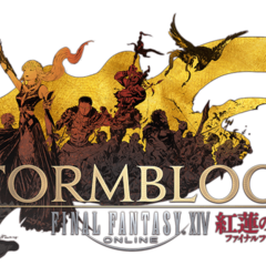<i>Final Fantasy XIV: Stormblood</i> logo.