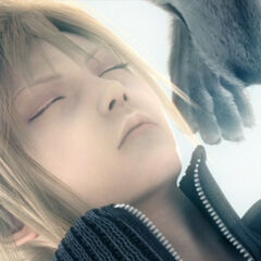 Fenrir with Cloud in <i>Final Fantasy VII: Advent Children</i>.
