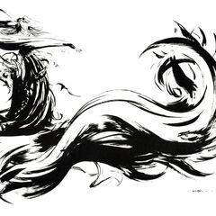 Альтернативный вариант логотипа <i>Final Fantasy X'</i>.