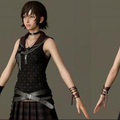 Крупный план модели персонажа.