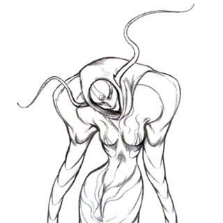 Concept art of the final Sorceress.