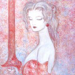 Рисунок Терры работы Ёситаки Амано для <i>The Sky</i>.