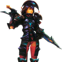 Yuna as a Dark Knight.