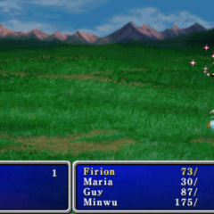 Life cast on the party in <i>Final Fantasy II</i> (PSP).